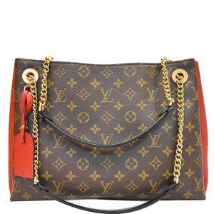 Louis Vuitton Surene Mm Cerise Monogram Handbag